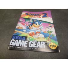 Sonic the Hedgehog 2 (Sega Game Gear, 1992) Manual