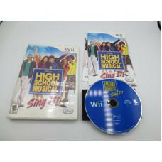 High School Musical: Sing It (Nintendo Wii, 2007)  Complete in Box - CIB